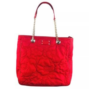 Kate Spade Maryanne Tote Poppy Fields Red Quilted